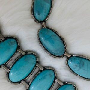 Vintage - Faux Turquoise Necklace & Bracelet SET